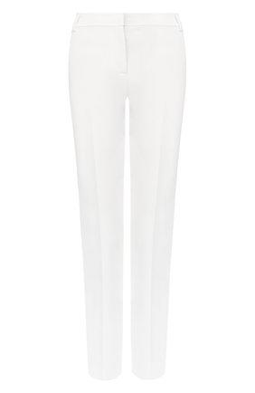 Женские хлопковые брюки ST. JOHN белого цвета, арт. K80YW41 | Фото 1