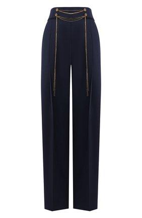 Женские шерстяные брюки OSCAR DE LA RENTA темно-синего цвета, арт. 20RE323BIS | Фото 1