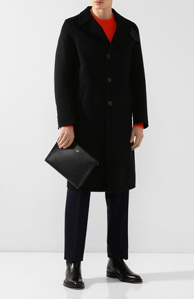 Мужская кожаный клатч DUNHILL черного цвета, арт. DU20R3745CA | Фото 2