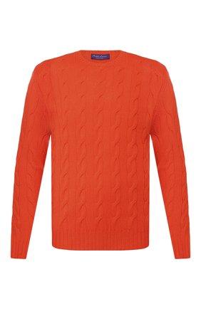 Мужской кашемировый джемпер RALPH LAUREN оранжевого цвета, арт. 790509405   Фото 1