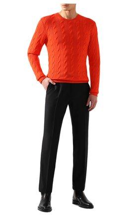 Мужской кашемировый джемпер RALPH LAUREN оранжевого цвета, арт. 790509405   Фото 2