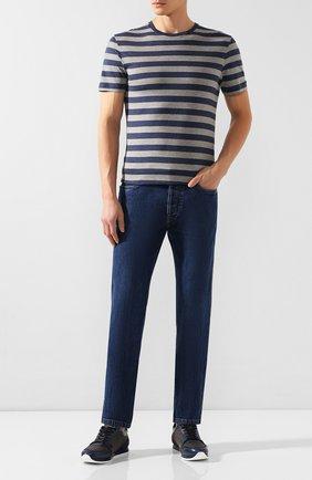 Мужская хлопковая футболка RALPH LAUREN разноцветного цвета, арт. 790775617 | Фото 2