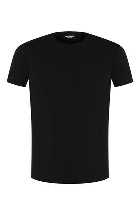 Мужские хлопковая футболка DSQUARED2 черного цвета, арт. D9M202450 | Фото 1
