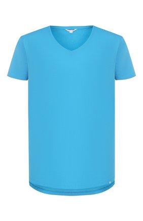Мужская хлопковая футболка ORLEBAR BROWN голубого цвета, арт. 269282 | Фото 1