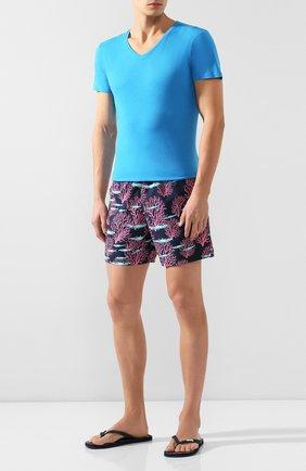 Мужская хлопковая футболка ORLEBAR BROWN голубого цвета, арт. 269282 | Фото 2