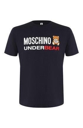 Мужская хлопковая футболка MOSCHINO темно-синего цвета, арт. A1914/8103 | Фото 1