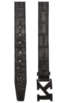 Мужской ремень из кожи крокодила KITON темно-серого цвета, арт. USC20PN00102/CNIL | Фото 2