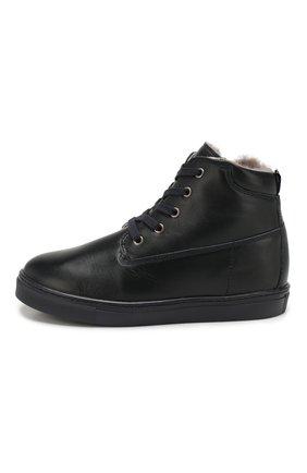 Кожаные ботинки с меховой отделкой | Фото №2