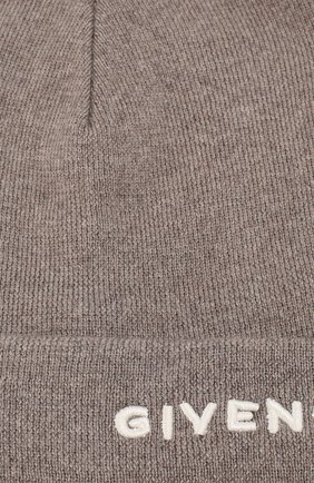 Женская шерстяная шапка GIVENCHY бежевого цвета, арт. GWCAPP/U1604   Фото 3