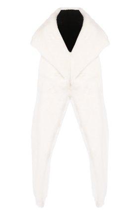 Женский капюшон из меха норки SIMONETTA RAVIZZA белого цвета, арт. AI19ARY1/500V | Фото 1