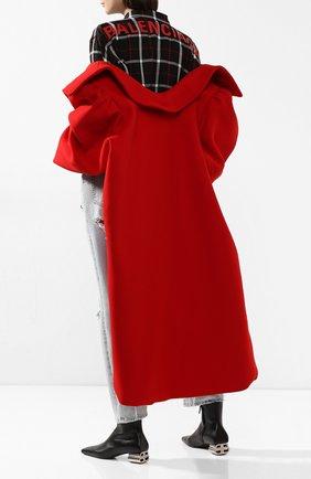 Женские кожаные ботильоны typo BALENCIAGA черного цвета, арт. 590984/WA8F3 | Фото 2