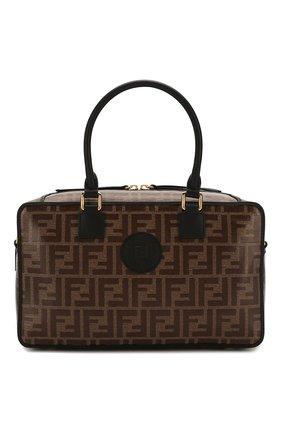 Женская сумка boston small FENDI черного цвета, арт. 8BL143 A5K4 | Фото 1