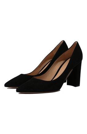 Женские замшевые туфли piper 85 GIANVITO ROSSI черного цвета, арт. G21375.85RIC.CAMNER0 | Фото 1