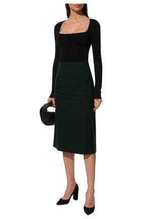 Женские замшевые туфли piper 85 GIANVITO ROSSI черного цвета, арт. G21375.85RIC.CAMNER0 | Фото 2