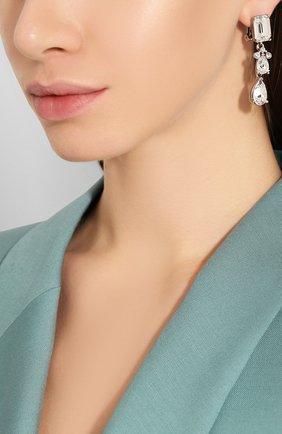 Женские серьги-клипсы OSCAR DE LA RENTA серебряного цвета, арт. 0J113CRT | Фото 2