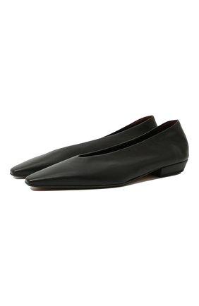 Женские кожаные балетки BOTTEGA VENETA черного цвета, арт. 608872/VBSD0 | Фото 1