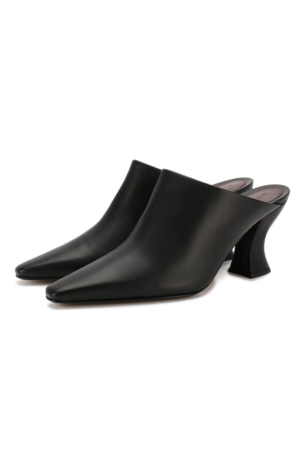 Женские кожаные мюли BOTTEGA VENETA черного цвета, арт. 608838/VBSD0 | Фото 1