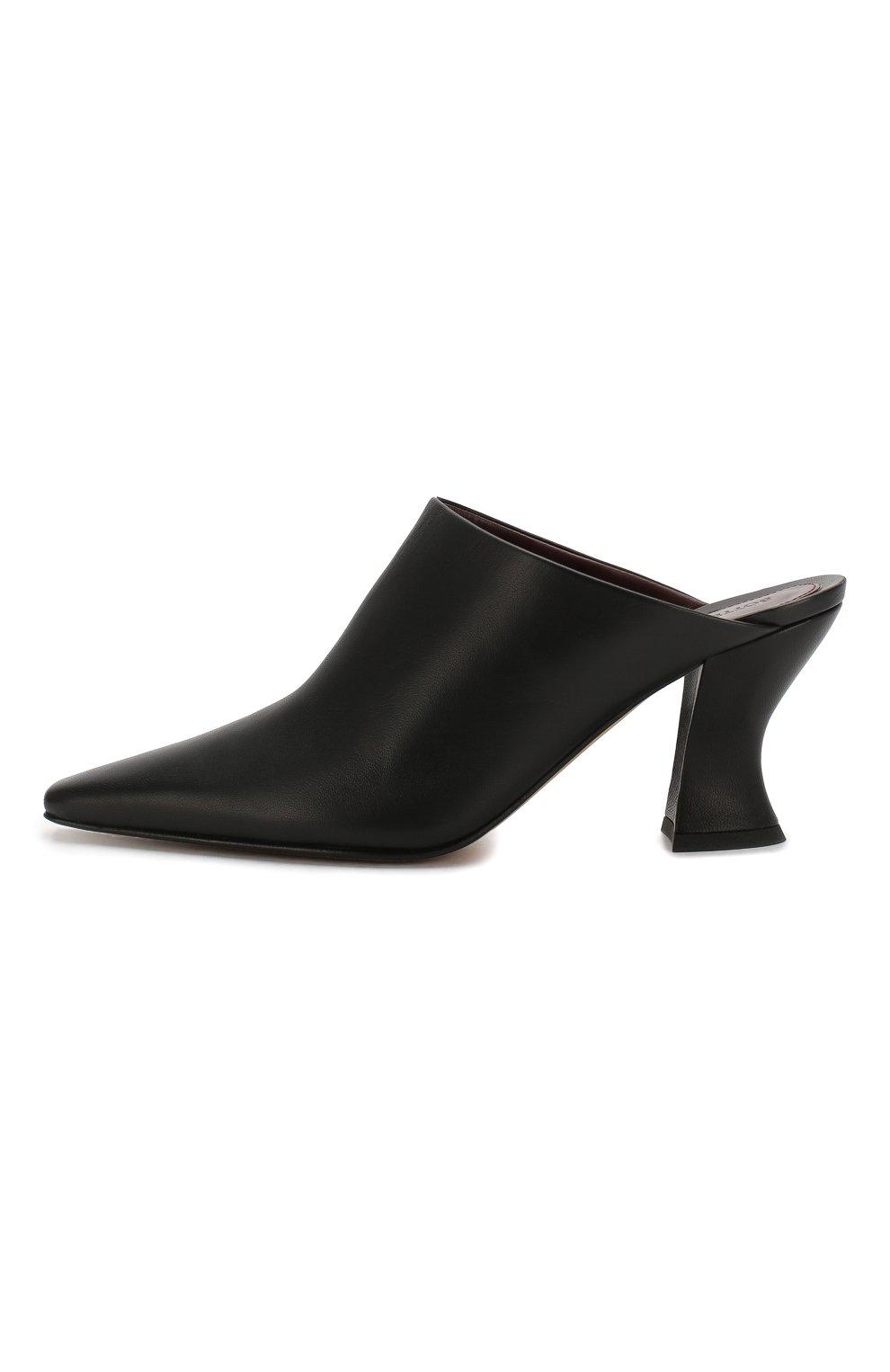 Женские кожаные мюли BOTTEGA VENETA черного цвета, арт. 608838/VBSD0 | Фото 3