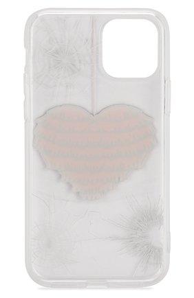 Мужской чехол для iphone 11 pro MISHRABOO прозрачного цвета, арт. Heart 11 Pro   Фото 2