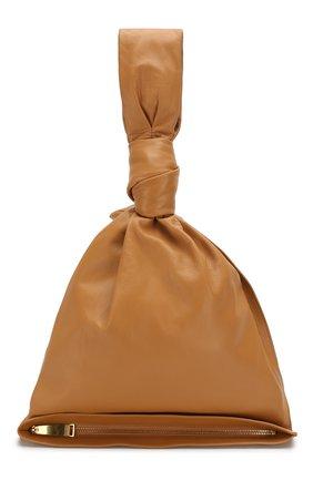 Женская сумка bv twist BOTTEGA VENETA светло-бежевого цвета, арт. 607964/VCP40 | Фото 1