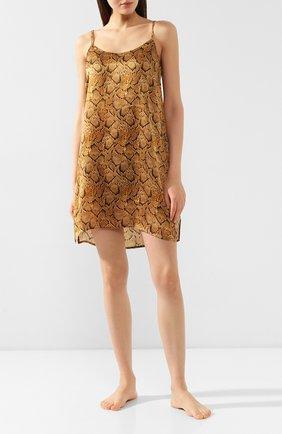 Женская шелковая сорочка EVA B.BITZER золотого цвета, арт. 29312978 | Фото 2