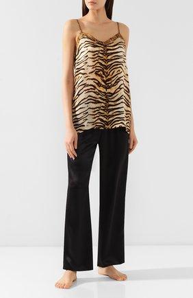 Женская шелковая пижама EVA B.BITZER золотого цвета, арт. 29312574 | Фото 1