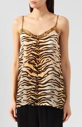 Женская шелковая пижама EVA B.BITZER золотого цвета, арт. 29312574 | Фото 2