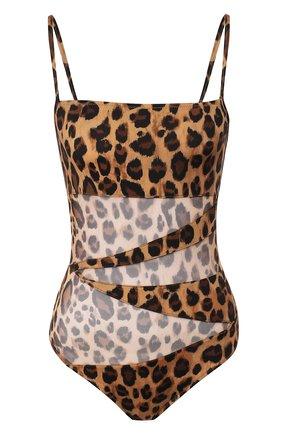 Женский слитный купальник NATAYAKIM леопардового цвета, арт. NY-013 | Фото 1