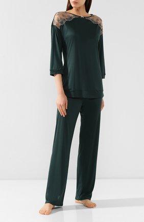 Женская пижама FREE VOOGUE зеленого цвета, арт. 29103 | Фото 1