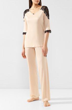Женская пижама FREE VOOGUE бежевого цвета, арт. 29303 | Фото 1