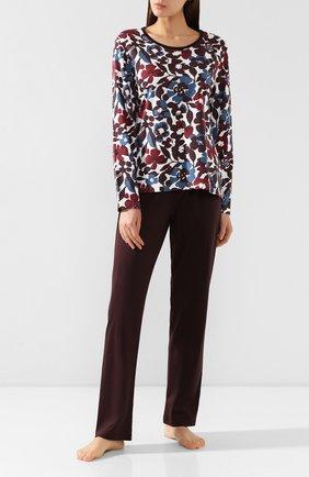 Женская хлопковая пижама MEY коричневого цвета, арт. 14_161_245 | Фото 1