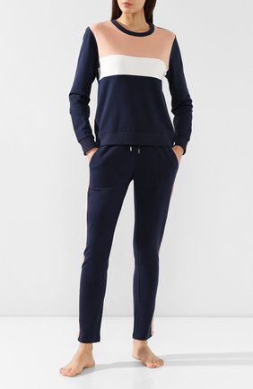 Женские хлопковые брюки MEY темно-синего цвета, арт. 16_677_408 | Фото 2