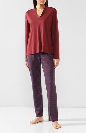 Женская хлопковая пижама MEY бордового цвета, арт. 14_165_284 | Фото 1