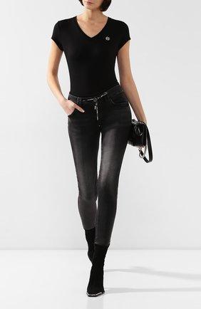 Женская футболка PHILIPP PLEIN черного цвета, арт. F19C WTK1473 PTE003N | Фото 2