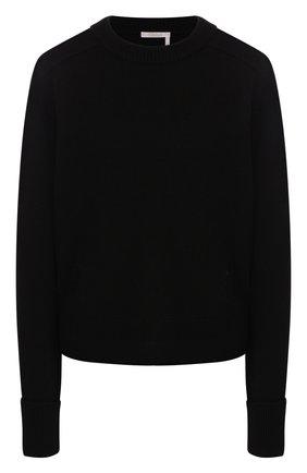 Женская кашемировый пуловер CHLOÉ черного цвета, арт. CHC19AMP35500 | Фото 1