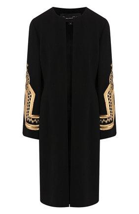 Женское шерстяное пальто OSCAR DE LA RENTA черного цвета, арт. 19PE815STW | Фото 1