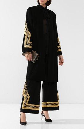 Женское шерстяное пальто OSCAR DE LA RENTA черного цвета, арт. 19PE815STW | Фото 2