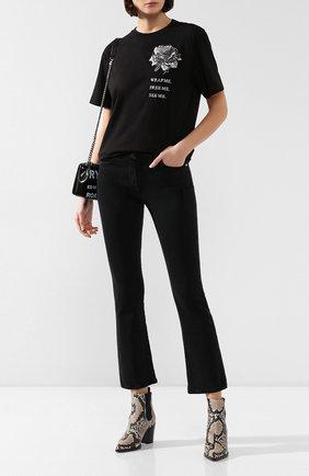 Женские джинсы VALENTINO черного цвета, арт. SB0DD09D4VW | Фото 2