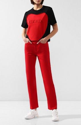 Женские джинсы ESCADA SPORT красного цвета, арт. 5032535 | Фото 2