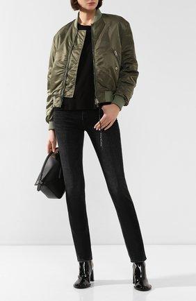 Женские джинсы FRAME DENIM черного цвета, арт. LN504 | Фото 2
