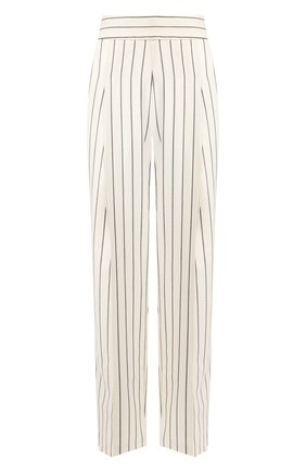 Женские шерстяные брюки OSCAR DE LA RENTA белого цвета, арт. 20RN323PSG | Фото 1
