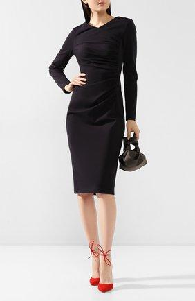 Женское платье ESCADA темно-синего цвета, арт. 5031940 | Фото 2