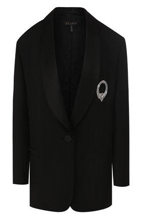Женский шерстяной жакет ESCADA черного цвета, арт. 5032119 | Фото 1