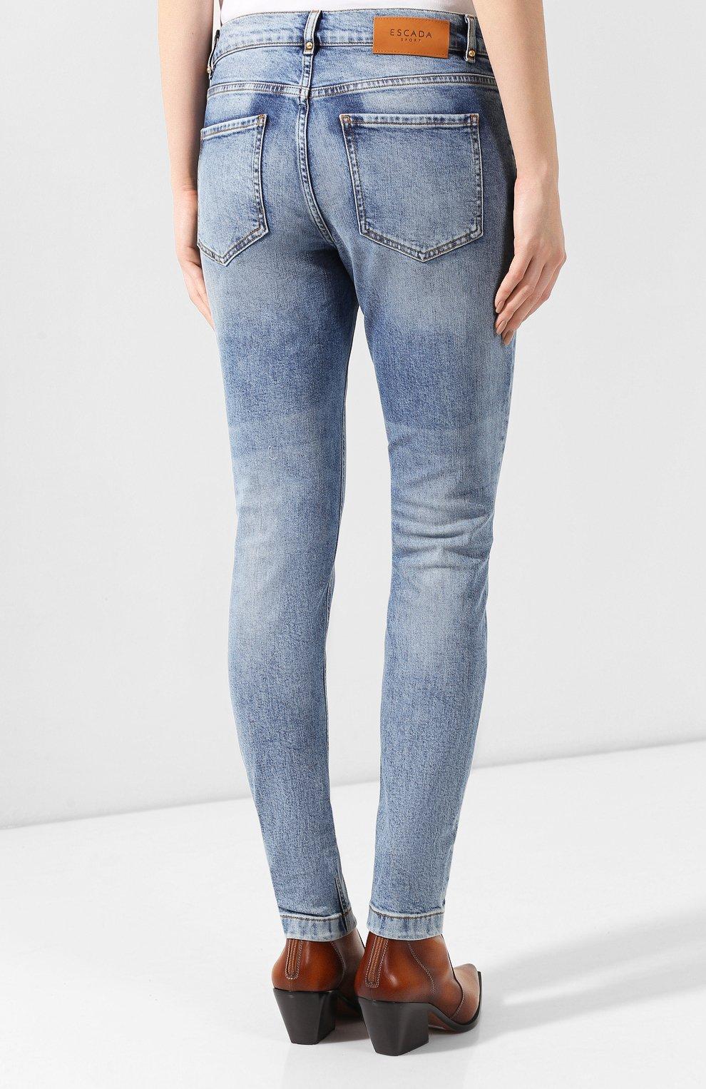Женские джинсы ESCADA SPORT голубого цвета, арт. 5032487 | Фото 4