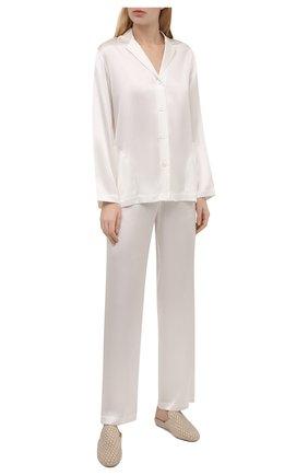 Женская шелковая пижама LA PERLA бежевого цвета, арт. 0020288 | Фото 1