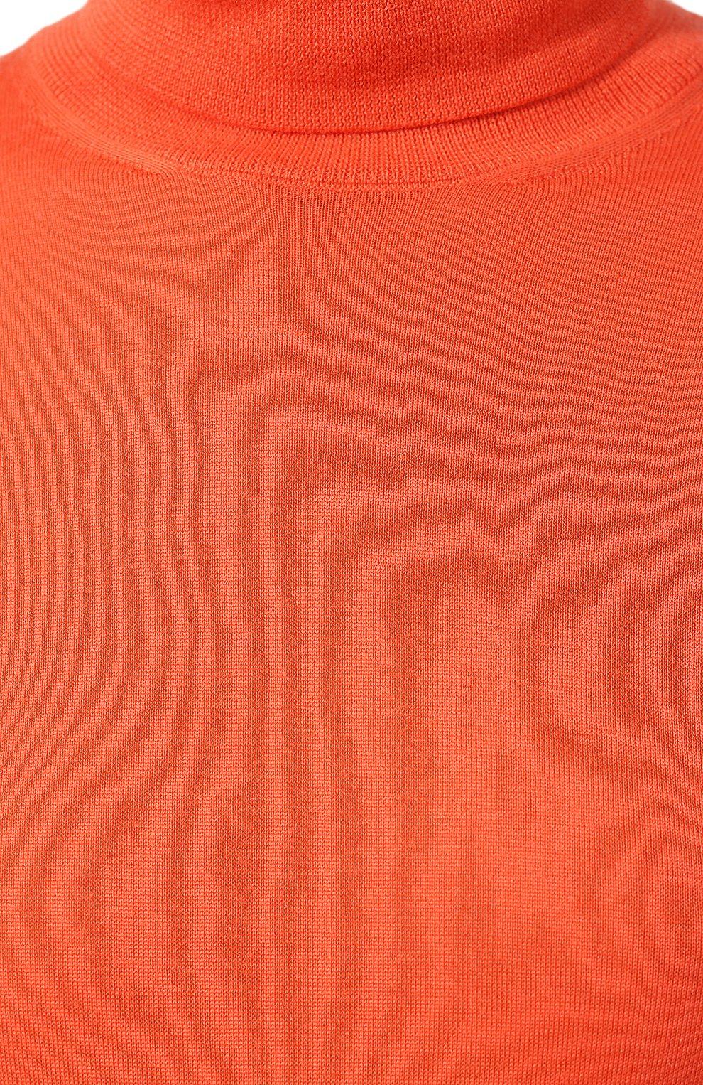 Женская кашемировая водолазка RALPH LAUREN кораллового цвета, арт. 290615195 | Фото 5