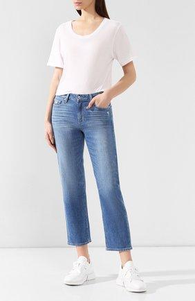 Женская хлопковая футболка MONROW белого цвета, арт. HT0415SFJ | Фото 2