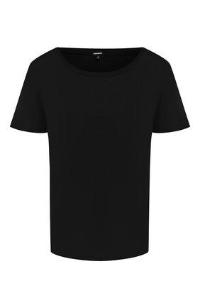 Женская хлопковая футболка MONROW черного цвета, арт. HT0415SFJ | Фото 1