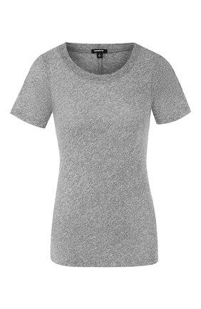 Женская футболка MONROW серого цвета, арт. HT002MHJ | Фото 1