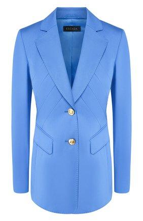 Женский хлопковый жакет ESCADA голубого цвета, арт. 5031931   Фото 1